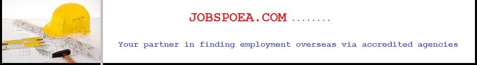 Home » Poea Jobs Abroad Poea Canada Agencies